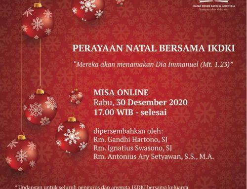 Undangan Perayaan Natal Bersama IKDKI 2020