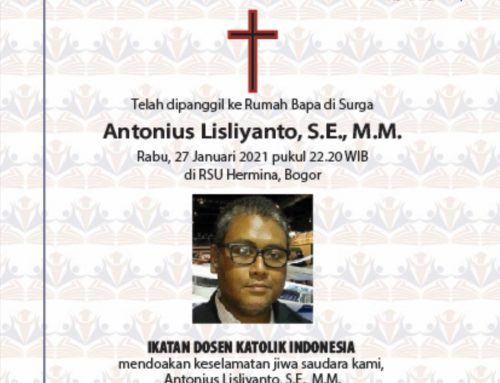 Ucapan bela sungkawa – Humas IKDKI – Bpk Antonius Lisliyanto, SE., MM